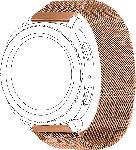 MediaMarkt TOPP Mesh, Ersatz-/Wechselarmband, Samsung, Garmin, Gear Sport, Galaxy Watch 42 mm, Galaxy Watch Active, vivomove, vivoactive 3, Roségold