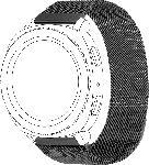 MediaMarkt TOPP Mesh, Ersatz-/Wechselarmband, Samsung, Garmin, Gear Sport, Galaxy Watch 42 mm, Galaxy Watch Active, vivomove, vivoactive 3, Grau