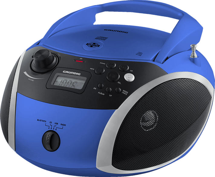 GRUNDIG GRB 3000 BT Radio (Blau/Silber)