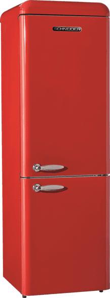 SCHNEIDER SCB 300V2 R  Kühlgefrierkombination (A++, 224 kWh/Jahr, 1899 mm hoch, Rot)
