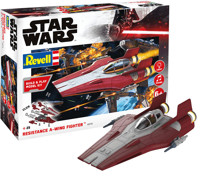 REVELL Resistance A-wing Fighter, red Raumschiff, Mehrfarbig