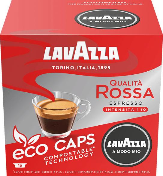 LAVAZZA 8975 A Modo Mio ECO Espresso Qualita Rossa Kaffeekapseln (Espresso)