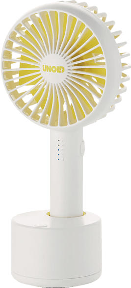 UNOLD 86630 Breezy Swing  Handventilator Weiß/Gelb (4 Watt)