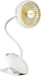 UNOLD Breezy Clipp 86680 Tischventilator Weiß/Gelb (4 Watt)
