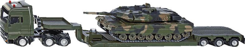 SIKU Militärtransporter mit Panzer Modellfahrzeug, Mehrfarbig