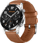 Media Markt HUAWEI  Watch GT 2 46mm Classic/Pebble Smartwatch, Leder, 140-210 mm, Braun