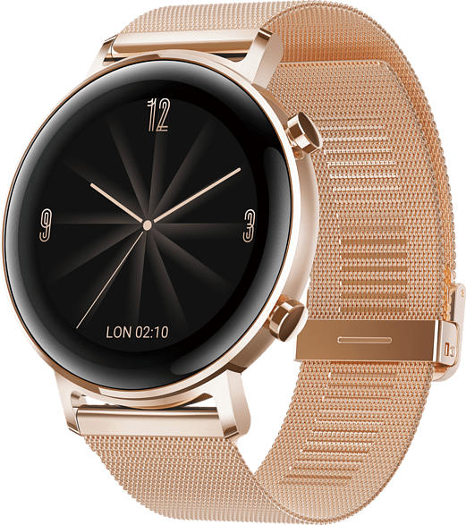 HUAWEI  Watch GT 2 42mm Elegant Smartwatch, Metall, 130-200 mm, Roségold