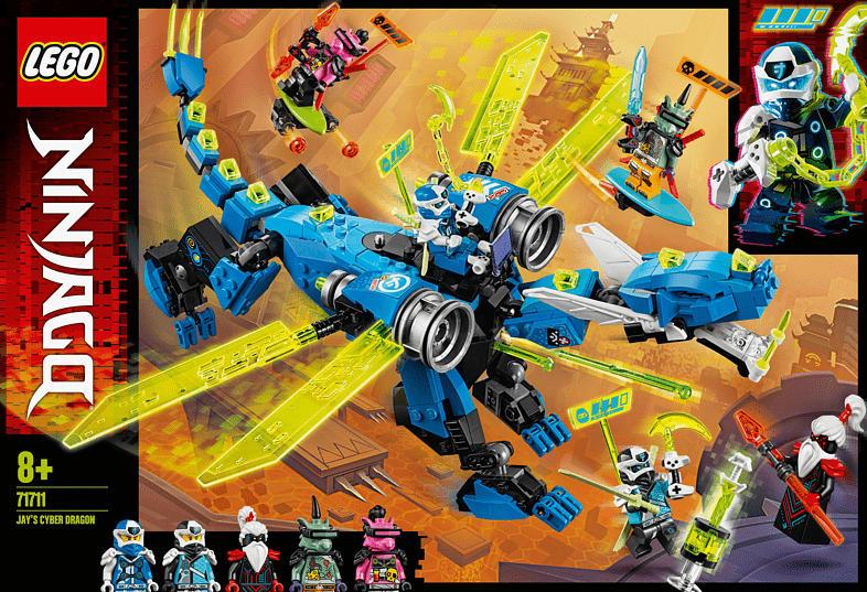 LEGO 71711 Jays Cyber-Drache Bausatz, Mehrfarbig