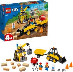 LEGO 60252 Bagger auf der Baustelle Bausatz, Mehrfarbig