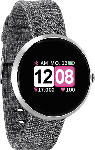 MediaMarkt XLYNE  X-WATCH SIONA COLOR FIT (54048) Smartwatch Metall, Textil, 234 mm, Gehäuse: Silber/Armband: Silber (Textil)