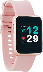XLYNE  X-WATCH KETO SUN REFLECT - SAHARA SUN - (54045) Smartwatch Metall, Silikon, 22 x240 mm, Gehäuse: Rosé/Armband: Rosé