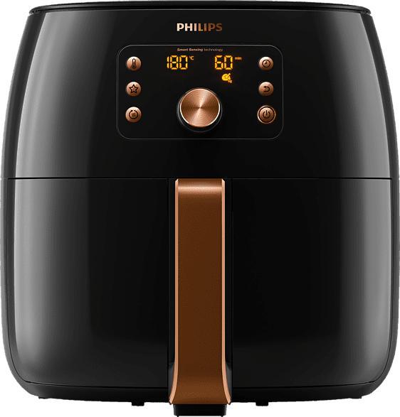 PHILIPS HD 9860/90 AIRFRYER SMART SENSING Heißluftfritteuse, Schwarz/Kupfer