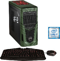 HYRICAN MILITARY GAMING 6460, Gaming-PC mit Core™ i7 Prozessor, 16 GB RAM, 480 GB SSD, 1 TB HDD, Geforce RTX 2080 SUPER, 8 GB