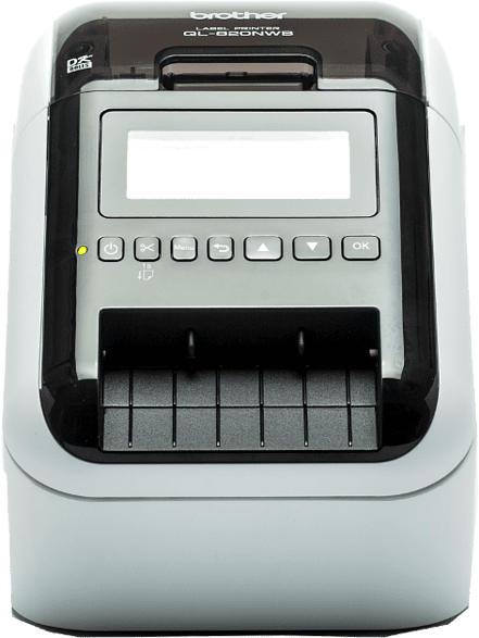 BROTHER QL-820NWB Etikettendrucker, Schwarz/ Weiß