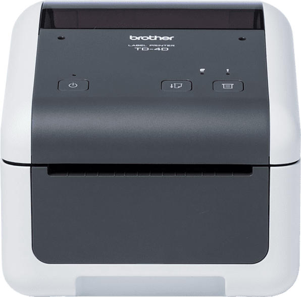 BROTHER TD-4410D Etikettendrucker, Weiß/ Grau
