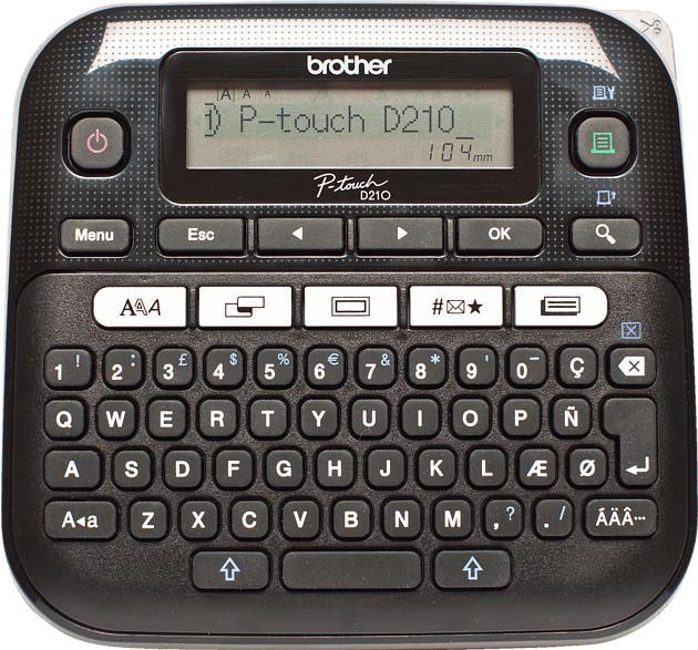 BROTHER P-Touch D210VP Beschriftungsgerät, Schwarz