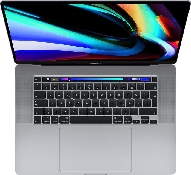 APPLE MVVJ2D/A-166428 MacBook Pro - deutsche Tastatur, Notebook mit 16 Zoll Display, Core i7 Prozessor, 64 GB RAM, 4 TB SSD, AMD Radeon Pro 5500M, Space Grey