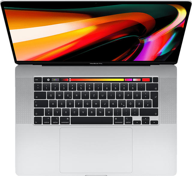 APPLE MVVL2D/A-167098 MacBook Pro - deutsche Tastatur, Notebook mit 16 Zoll Display, Core i7 Prozessor, 64 GB RAM, 2 TB SSD, AMD Radeon Pro 5300M, Silber