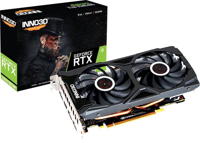 INNO3D GeForce® RTX 2060 SUPER™ Gaming OC X2 8GB (N206S2-08D6X-17311165) (NVIDIA, Grafikkarte)