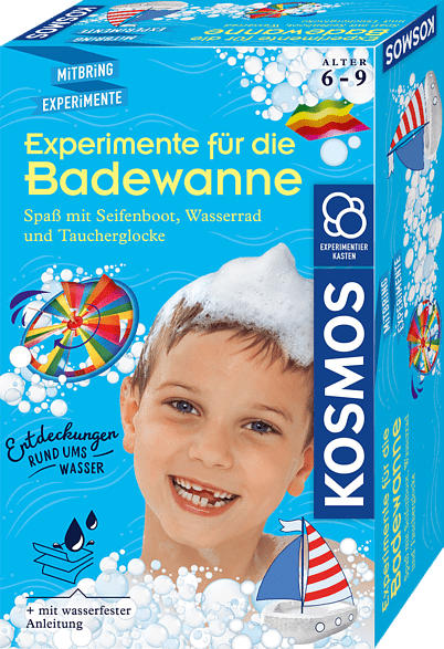 KOSMOS Experimente für die Badewanne Experimentierkasten, Mehrfarbig