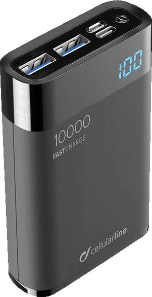 CELLULAR LINE FreePower Manta HD 10000 Powerbank 10000 mAh Schwarz