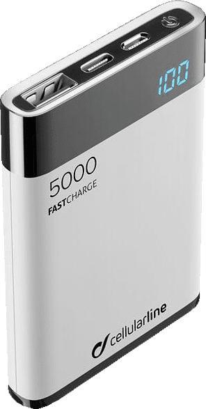 CELLULAR LINE FreePower Manta HD 5000 Powerbank 5000 mAh Weiß