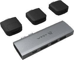 ADAM ELEMENTS Casa HUB 10E USB-C Docking, Grau/Schwarz