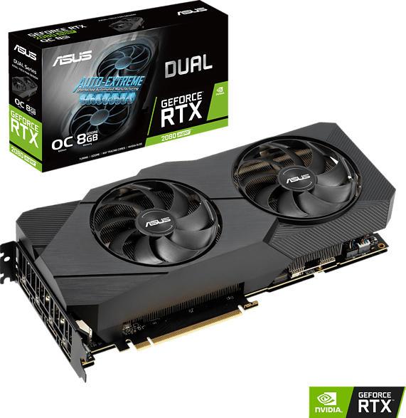 ASUS GeForce® RTX 2080 SUPER™ Dual Evo V2 OC 8GB (90YV0DP1-M0NM00) (NVIDIA, Grafikkarte)