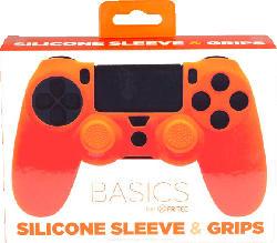 BLADE PS4 Silicone Skin + Grips Silikonschutzhülle, Orange