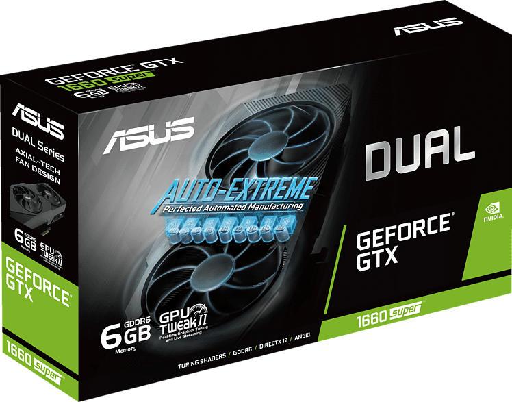 ASUS Geforce® GTX 1660 SUPER™ Dual Evo 6GB (90YV0DS5-M0NA00) (NVIDIA, Grafikkarte)