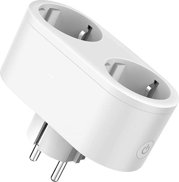 XLAYER Steckdose Smart Echo Double Weiß Steckdose