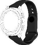 MediaMarkt TOPP 40-41-3782, Ersatzarmband, Samsung, Garmin, Gear Sport/Galaxy Watch 42 mm/Galaxy Watch Active/vivomove/vivoactive 3, Schwarz
