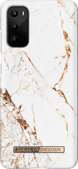 IDEAL OF SWEDEN IDFCA16-S11E-46 , Backcover, Samsung, Galaxy S20, Kunststoff/Kunstleder (Wildlederimitat), Weiß/Gold