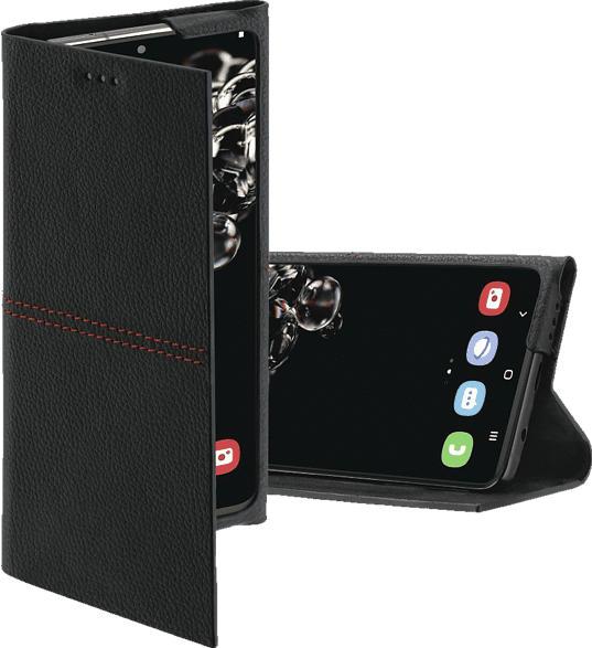HAMA Red Sensation No. 6 , Bookcover, Samsung, Galaxy S20 Ultra, Echtleder (Obermaterial), Schwarz/Rot