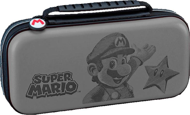 R.D.S. Deluxe Transporttasche Zubehör Nintendo Switch, Grau/Mehrfarbig