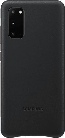 SAMSUNG Leather Cover , Backcover, Samsung, Galaxy S20, Echtleder, Schwarz