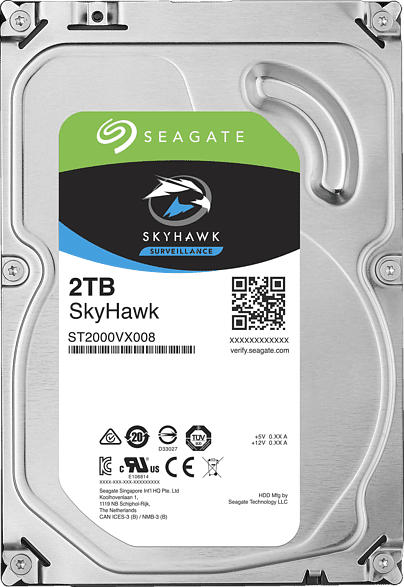 SEAGATE SkyHawk, 2 TB HDD, 3.5 Zoll, intern