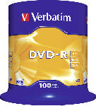 Media Markt VERBATIM 1x100 DVD-R 4,7GB  16x Speed, matt silver DVD-Rohlinge