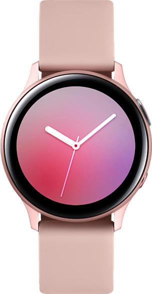 SAMSUNG  Galaxy Watch Active2 40 mm LTE Smartwatch Aluminium, Fluorkautschuk-Armband, S/M, Pink Gold