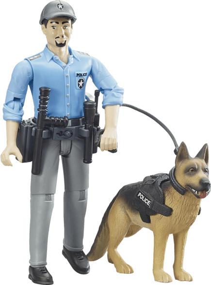 BRUDER Polizist mit Hund Spielzeugset, Mehrfarbig