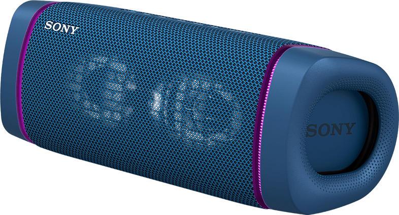 SONY SRS-XB33 tragbar, kabellos, Lautsprecherbeleuchtung, EXTRA BASS Bluetooth Lautsprecher, Blau, Wasserfest