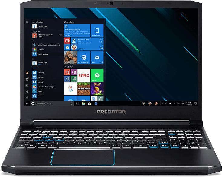 ACER Predator Helios 300 (PH315-52-71TW), Gaming Notebook mit 15.6 Zoll Display, Core™ i7 Prozessor, 8 GB RAM, 1 TB SSD, GeForce® GTX 1660 Ti, Schwarz/Blau