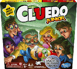 HASBRO GAMING Cluedo Junior Kinderspiel, Mehrfarbig
