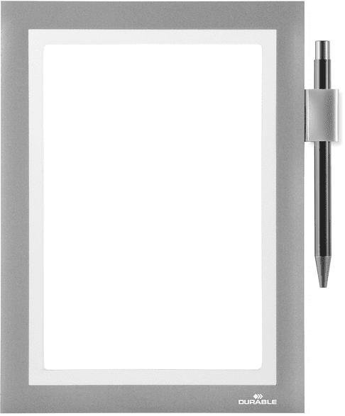 DURABLE DURAFRAME® NOTE A5 Info-Rahmen, Silber