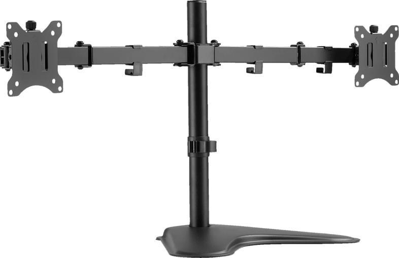 """DIGITUS DIGITUS DA-90401 Universal Dual Monitor Ständer für zwei Monitore 17"""" - 32"""" VESA 75 / 100 Dual Monitorständer, Schwarz"""