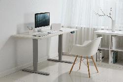 DIGITUS DIGITUS DA-90390 Elektrisch Höhenverstellbares Tischgestell Höhe 62-128cm Platten bis 200cm Kollisionsschutz elektrisch höhenverstellbares Tischgestell , Grau