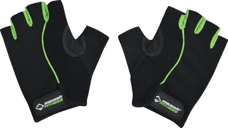 SCHILDKRÖT Fitness COMFORT L-XL Handschuhe, Schwarz/Grün