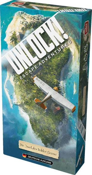 SPACE COWBOYS Unlock! Die Insel des Doktor G. Einzels. Gesellschaftsspiel, Grün