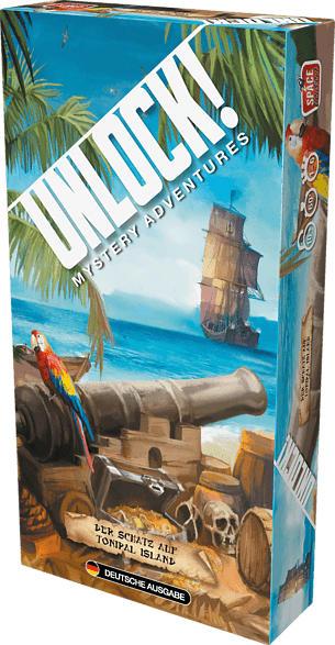SPACE COWBOYS Unlock! Der Schatz auf Tonipal Island Gesellschaftsspiel, Mehrfarbig