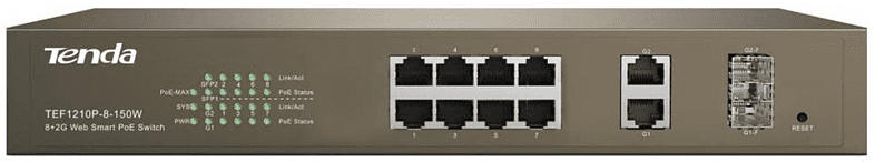 PoE-Switch TENDA TEF1210P-8-150W - 8 Port 8
